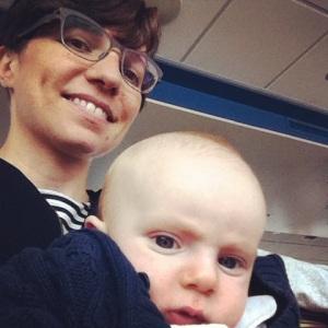 Giulio & I on the Spido boat